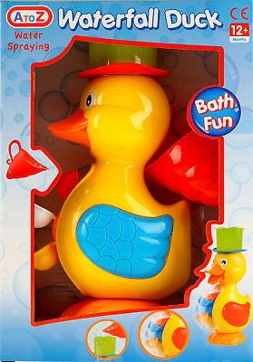 Waterfall Duck Bath Toy - Water Spraying Turning Wheel 12 months+.