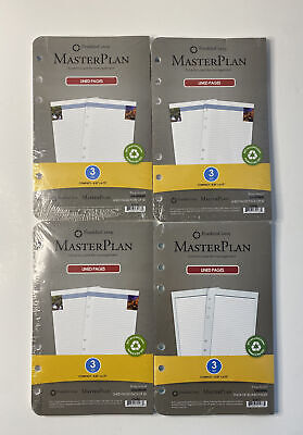 4 Franklin Covey Planner Lined Pages Size 3 Compact 4.25 X 6.75 200 Sheets