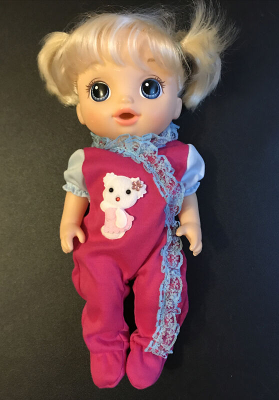 "12"" 13"" Inch Doll Clothes For Baby Alive Pink Kitty Footed Sleeper"
