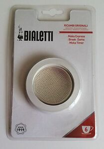 Bialetti 6 Cup - 3 Replacement Seals + 1 Filter - Moka Express/Break/Dama/Timer