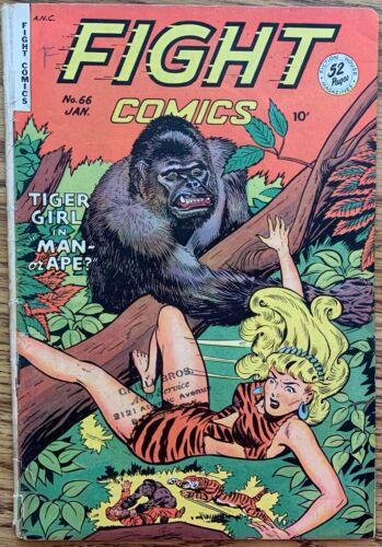 FIGHT COMICS (FICTION HOUSE,1950) #66 GOLDEN AGE ~