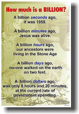 How Much Is A Billion? - Classroom School Math Numbers Poster