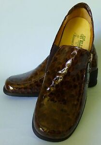 HELLE COMFORT ROMUS WOMEN SHOES SZ 37 BROWN NIB SNAKE SKIN DESIGN NICE