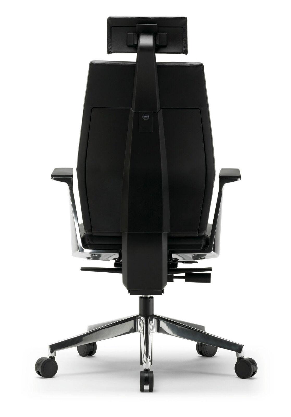 design sedna chefsessel drehsessel echt leder schwarz neu. Black Bedroom Furniture Sets. Home Design Ideas