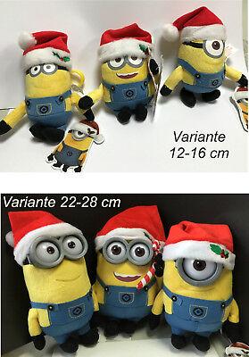 Minion Kevin Spielzeug (Minion Plüschfigur 12-18 cm Minions Xmas Weihnachten Bob Stuart Kevin mit Haken)