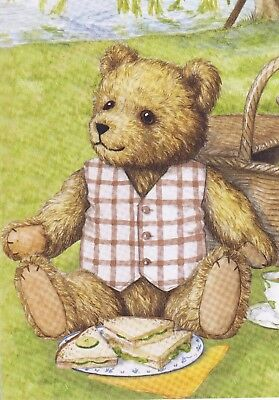 12 sample sheets from Hunkydory's Little Book of Teddy Bear's Picnic - Set 1
