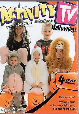 Activity TV - Halloween (DVD, 2008, 4-Disc Set, 4-Pack) Costumes, Pumpkins, more (Activity Halloween)
