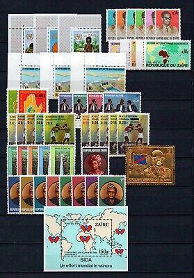 Belgisch Congo Belge - Rep. du Zaïre Collection MNH sets (3) c79.15Eu.