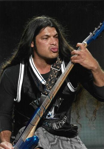 "Robert Trujillo ""Metallica"" signed 8x11 inch photo autograph"