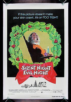 SILENT NIGHT EVIL NIGHT * CineMasterpieces BLACK CHRISTMAS MOVIE POSTER 1974