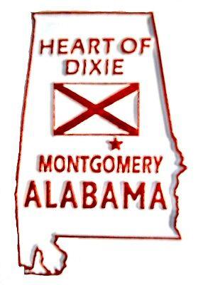 Alabama The Heart of Dixie Fridge Magnet - Heart Magnets