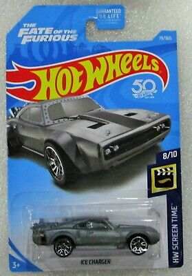 Hot wheels 2018 fast & furious ice charger silver gray #79 / 365 htf