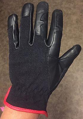 Heavy Duty Leather Gloves Size Medium