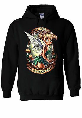 Disney Princess Tinkerbell Fairy Hoodie Sweatshirt Jumper Men Women Unisex 126