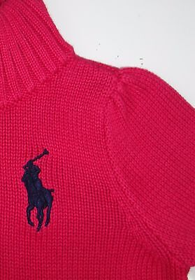 Ralph Lauren NEW Pink Baby Girl's Size 2T Full-Zipped Currant  Sweater $59