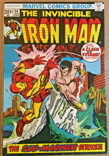 IRON MAN #54(8.0) KEY BRONZE-AGE COMIC 1ST. APPEARANCE OF MOONDRAGON