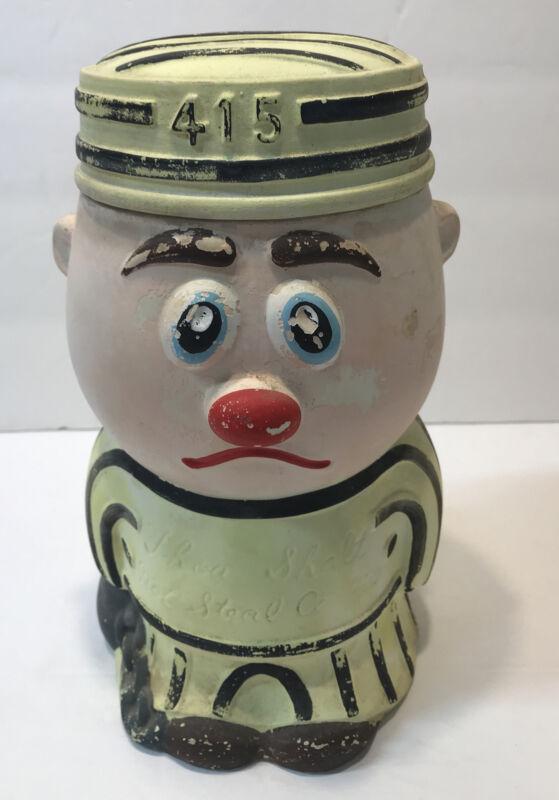 Vintage Cookie Thief Cookie Jar Damaged