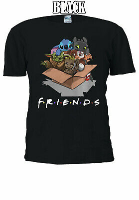 Disney Stitch Star wars Friends TV Show T-shirt  Men Women Unisex V175