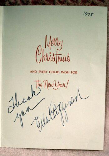 Ella Fitzgerald signed Christmas card  1975