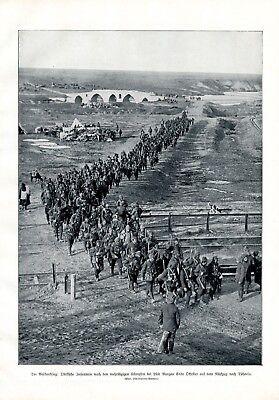 Türkei Infanterie Lüle Burgas XL Fotoabbildung 1912 Lüleburgaz Soldaten Tschorlu