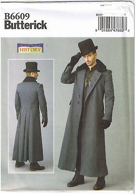 Historische Kostüme Männer (Männer Historisch Viktorianisch Zweireihiger Mantel Kostüm Nähmuster 46 48 50 52)