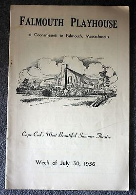1956 FALMOUTH PLAYHOUSE PROGRAM Cape Cod THE SOLID GOLD CADILLAC Massachusetts