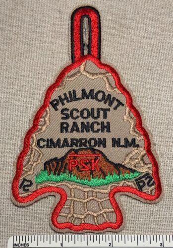 PHILMONT SCOUT RANCH 2000 P2K Red Border Boy Scout Arrowhead PATCH Cimarron NM