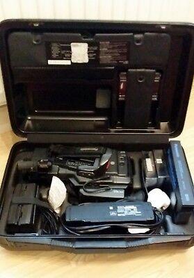 Panasonic MC30 VHS C Movie Camera Recorder & Playback Case & Accessories