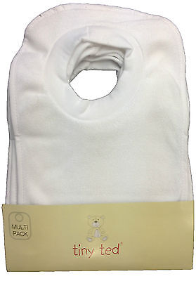 Velcro 3 5 10 White Plain Baby Bibs Job Lot Bulk Buy Wholesale Blank Hook Loop