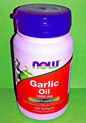 Aceite de ajo 1500 mg 100 perlas Now Foods