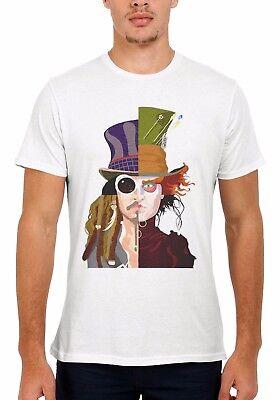 Mad Hatter Shirts (Mad Hatter Johnny Depp Jack Sparrow Men Women Vest Tank Top Unisex T Shirt)