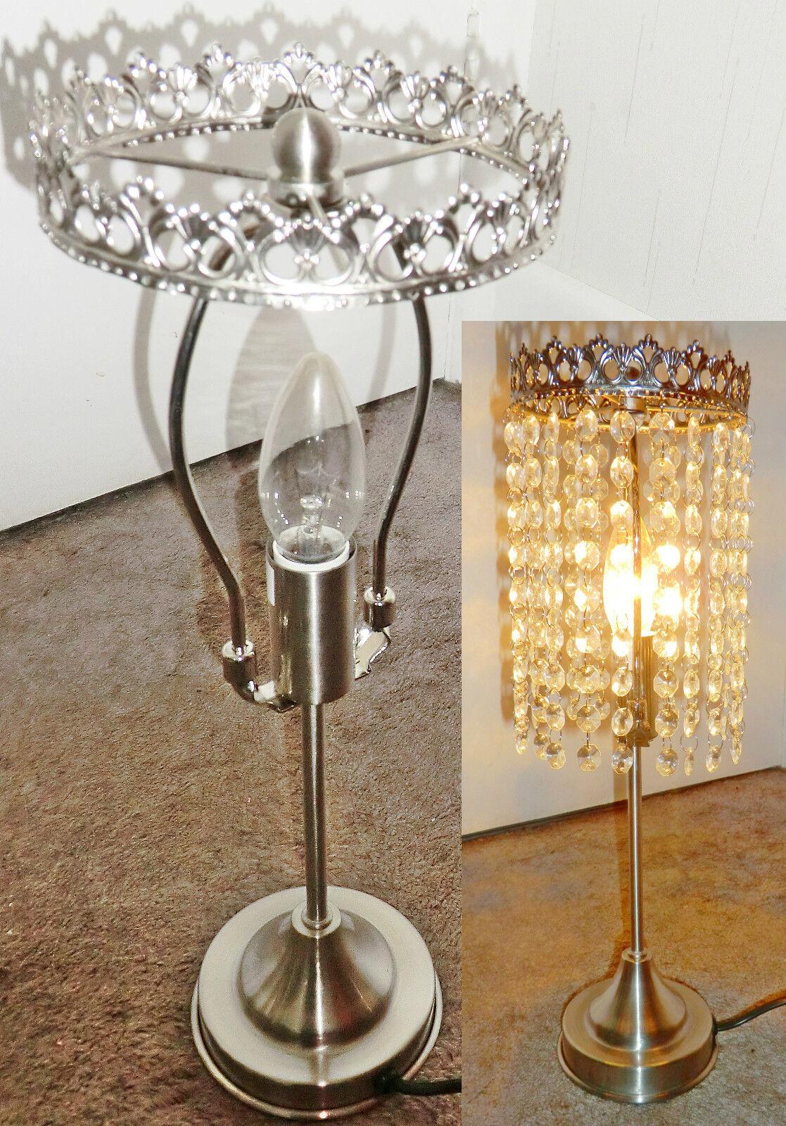 Make ur own chandelier table kit light lamp no drops droplets antique chrome picclick uk - Building a chandelier ...