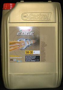 20 liter castrol edge titanium fst 5w 30 c3 mb 5w30 bmw motor l renault ebay. Black Bedroom Furniture Sets. Home Design Ideas