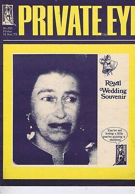 ROYAL WEDDINGPrivate Eyeno.31116NOV1973