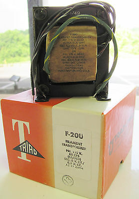 Triad F-20u 115v 60 Hz Pri 6vct Or 6.3vct 11a Secondary Filament Transformer