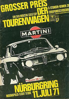 Programm 1971 Grosser Preis der Tourenwagen 6h Nürburgring ETCC BMW Alpina 2002