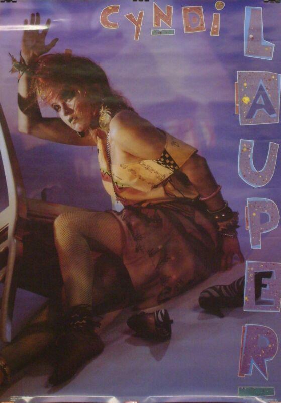 Cyndi Lauper 22x34 Girls Wanna Have Fun Era Poster 1984