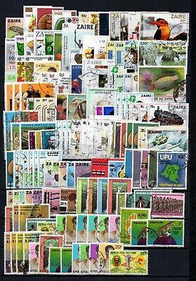 Belgisch Congo Belge - Rep. Zaïre Clearout Collection 142 stamps Used (1)