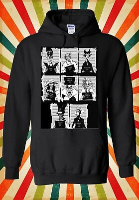 Disney Villains Mugshot Funny Cool Men Women Unisex Top Hoodie Sweatshirt 1995