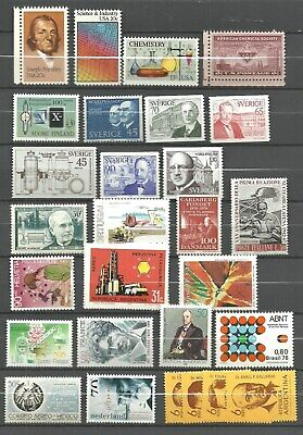 CHEMISTRY-PHYSICS-SCIENCE: 46 diff.stamps (40 MNH+8 Mint+Sheet) /ca.1957-1980