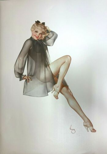 """Alberto Vargas """"sleepy Time Gal"""" Deluxe Edition Litho 91/200 Opalesque Paper"""