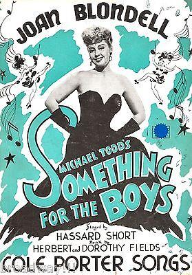 """Joan Blondell """"SOMETHING FOR THE BOYS"""" Cole Porter 1944 Souvenir Program"""
