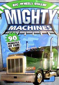 Mighty Machines - Big Wheels Rollin NEW! DVD, Trucks,Building, Roads, Cement,