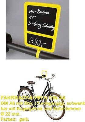 Plakatrahmen Halter, A6, Preisdisplay,Fahrrad,Fahrradhandel,Fahrradverkauf,Bike,