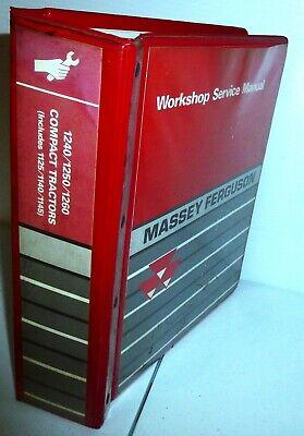 Massey Ferguson 1240 1250 1260 Plus Compact Tractors Service Manual 1449249 M1