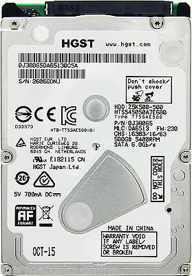 HARD DISK HDD HD INTERNO 500GB SATA 2,5