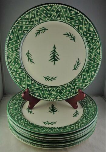 Eight Dansk Nordic Knits Green Dinner Plates