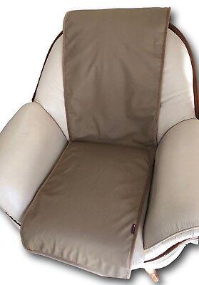 Sesselschoner Lederoptik braun 50x180 Überwurf Läufer Sesselauflage Sitzauflage