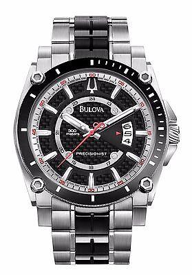Bulova Precisionist Men's 98B180 Champlain Quartz Two-Tone Bracelet 48mm Watch