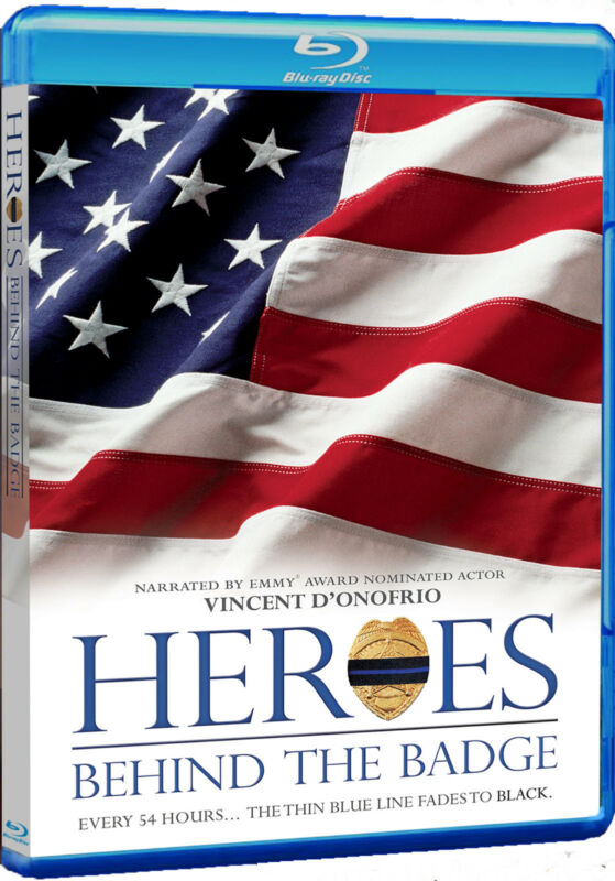 Heroes Behind The Badge Blu-ray, Police, Law Enforcement Documentary Film, 90min